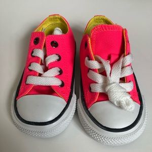 New Converse Sneakers Neon Pink Infant 5